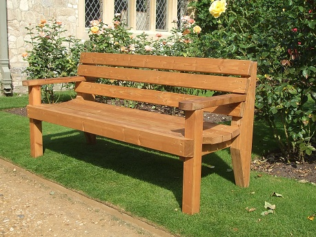 Garden Bench - 2 Seater with Arms - E Timber Products