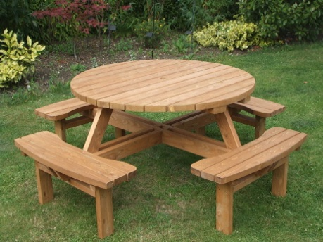 Round garden tables e timber products - Table picnic bois enfant ...