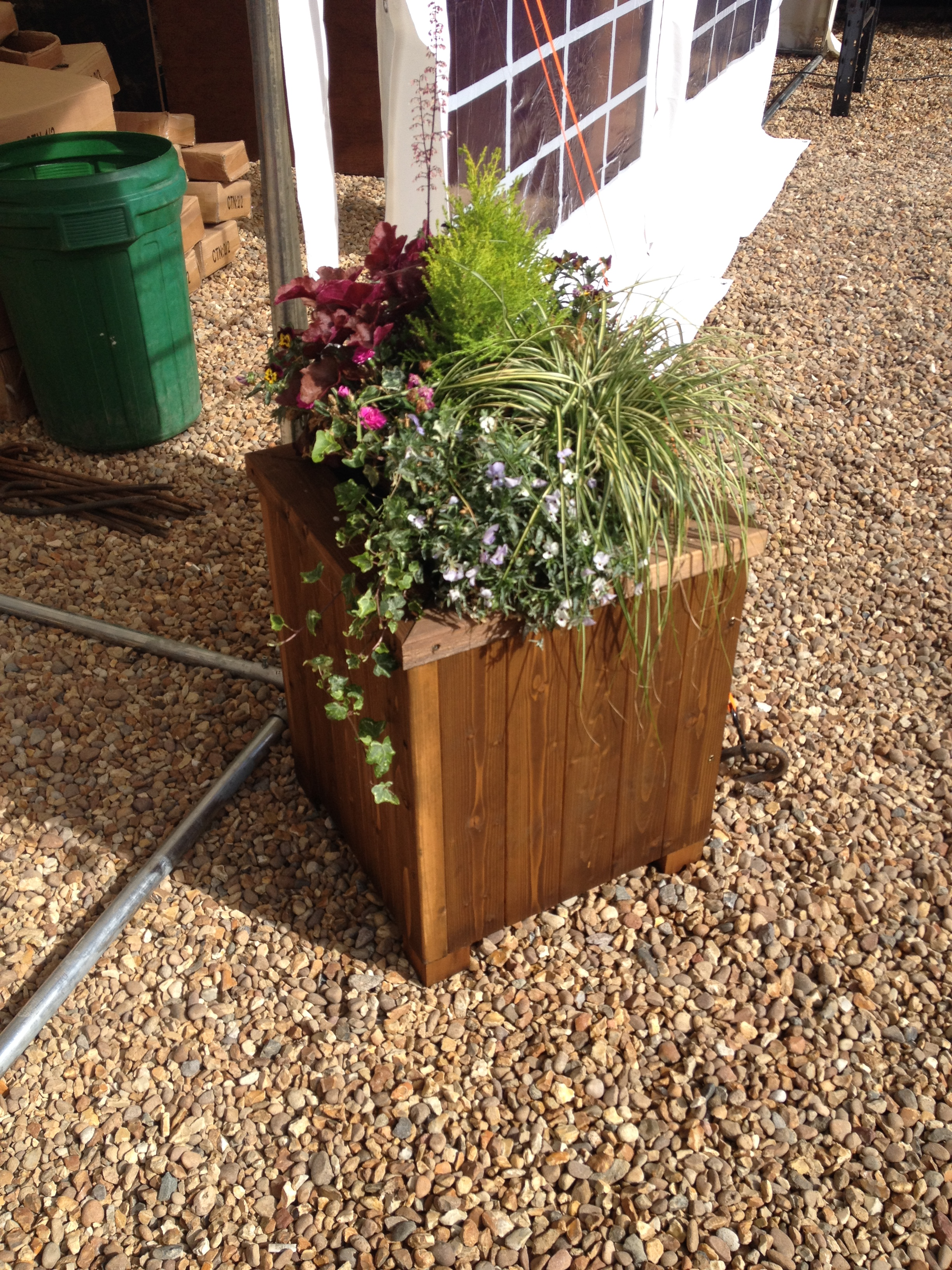 wooden garden planters 5 slat e timber products